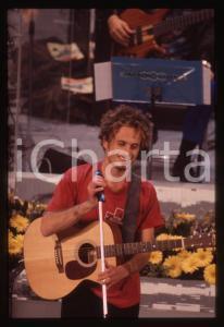 35mm vintage slide*1996 SANREMO GIOVANI Nicolò FABI sul palco dell'Ariston