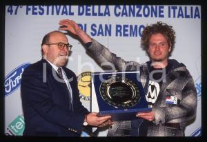35mm vintage slide*1997 SANREMO Niccolò FABI Premio Mia Martini - Nuove proposte