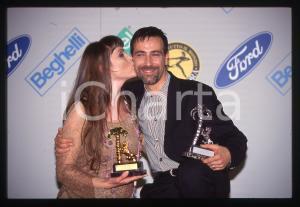 35mm vintage slide*1997 SANREMO Fabio RICCI ed Alessandra DRUSIAN dei JALISSE