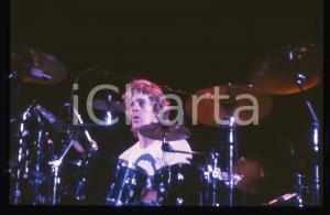 35mm vintage slide* 1980ca MUSICA Stewart COPELAND dei POLICE in concerto (1)