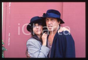 35mm vintage slide* 1985ca MUSICA Adriano CELENTANO e Claudia MORI Ritratto