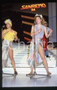 35mm vintage slide* 1984 SANREMO Raffaella RIVA del GRUPPO ITALIANO Ritratto 1