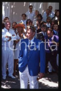 35mm vintage slide* 1990 RAMATUELLE Johnny HALLYDAY il giorno delle nozze (3)