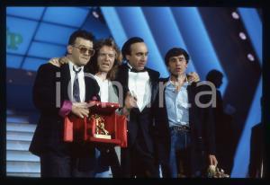 35mm vintage slide* 1987 SANREMO Pippo BAUDO Umberto TOZZI I Gianni MORANDI 1
