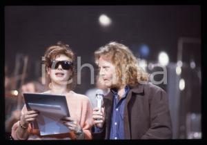 35mm vintage slide* 1991 SANREMO Umberto TOZZI Edwige FENECH al Teatro Ariston 1