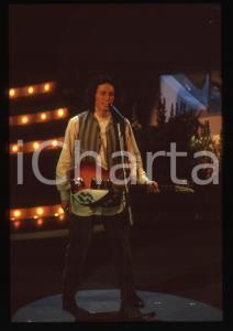 35mm vintage slide* 1995 SANREMO Fedele BOCCASSINI al Teatro Ariston (2)