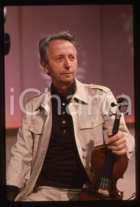 35mm vintage slide* 1980ca ITALIA MUSICA Giusto PIO Ritratto del musicista (1)