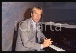 35mm vintage slide*1982 MUSICA Richard CLAYDERMAN concerto in salotto privato 9