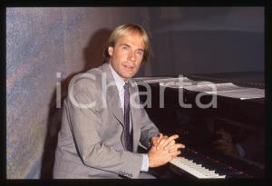 35mm vintage slide*1982 MUSICA Richard CLAYDERMAN concerto in salotto privato 10