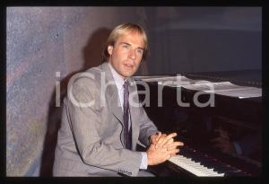 35mm vintage slide*1982 MUSICA Richard CLAYDERMAN concerto in salotto privato 14