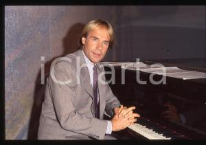 35mm vintage slide*1982 MUSICA Richard CLAYDERMAN concerto in salotto privato 15
