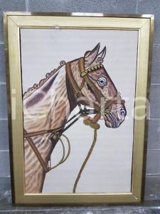1975 CINA VINTAGE - Primo piano testa di cavallo - quadro 95 x 68,5 cm