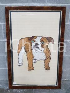 1975 CINA VINTAGE Bulldog inglese - quadro 66 x 98,5 cm