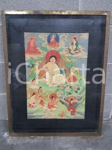 1975 CINA VINTAGE Divinità orientali fluttuanti - quadro 52,7 x 66,8 cm