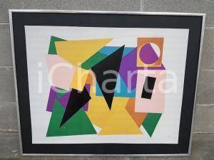 1980 - Figure geometriche - quadro firmato 83 x 68 cm