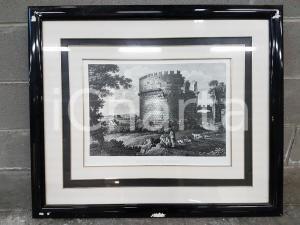 1970 Sepolcro Cecilia Metella- stampa con cornice 83 x 70 cm