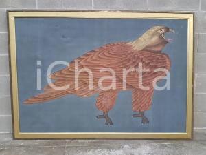 1970 CINA VINTAGE Aquila reale - quadro 171,5 x 119,8 cm