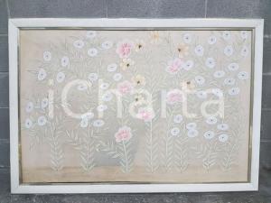 1970 VINTAGE fiori pastello stilizzati - Quadro 131 x 90 cm