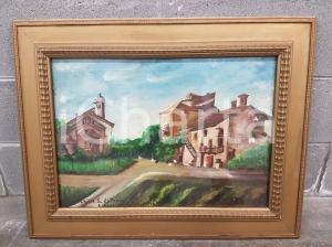 1962 VINTAGE Chiesa S.Antonio Cascina Mulinaccio firmato - Quadro 73,6 X 57,5 cm