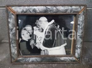 1970 VINTAGE fotografia in cornice di Papa Paolo VI  - 30,5 x 24,5 cm