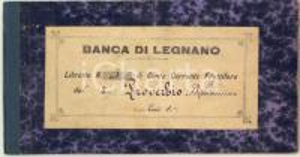 1888 BANCA DI LEGNANO Libretto conto corrente fruttifero di Beniamino PROVERBIO