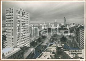 1960 ca MILANO Piazza della Repubblica *Bozzetto per cartolina 45x31 cm