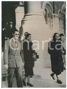1955 ca NICE (FRANCE) Ex King Michael of ROMANIA leaving the Orthodox Church