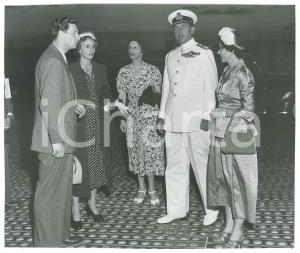 1948 Ex King Michael of ROMANIA Anne of Bourbon-Parma leaving on a ship *Photo