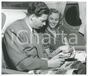 1948 Ex King Michael of ROMANIA Anne of Bourbon-Parma on a ship *Photo