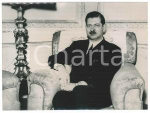 1941 LISBON Ex king Carol of Romania after his abdication - Photo 21x15 cm