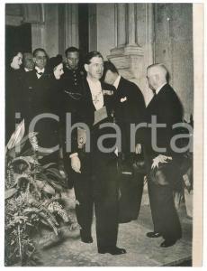 1952 LISBON Memorial service for King George VI - Ex king Carol of Romania PHOTO