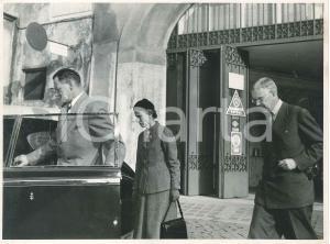 1955 ROMA Re Gustavo e Luisa di Svezia con re Federico di Danimarca - Foto