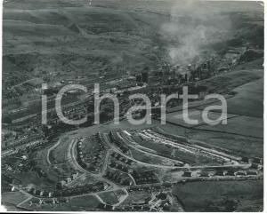 1955 ca EBBW VALE (MONMOUTHSHIRE, WALES) Aerial view - Photo 25x20 cm