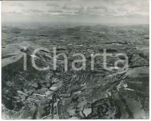 1955 ca EBBW VALE (MONMOUTHSHIRE, WALES) Aerial view *Photo 25x21 cm