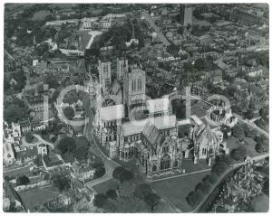1955 ca LINCOLN (UK) The Cathedral - Aerial view *Photo 25x20 cm
