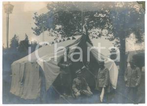 1915 ca WW1 REGIO ESERCITO - Ufficiali in accampamento - Foto 22x16 cm