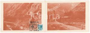 1979 Gianfranco SCHIAVAZZI Ferrovia CUNEO-VENTIMIGLIA - Pieghevole pubblicitario
