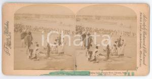 1896 CALCUTTA (INDIA) Ganges River - Bathing scene - Stereo photo JARVIS