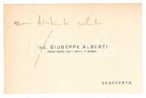 1950 ca BENEVENTO Ing. Giuseppe ALBERTI - Biglietto da visita AUTOGRAFO
