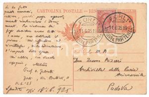 1925 FORLI' Oliverotto FABRETTI sul battesimo dei figli di Morgagni *AUTOGRAFO