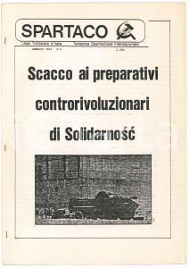 1982 SPARTACO Scacco ai preparativi internazionali di Solidarnosc *Ciclostilato