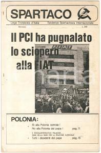 1980 SPARTACO Il PCI ha pugnalato lo sciopero FIAT *Ciclostilato Anno I n° 1