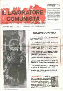 1982 IL LAVORATORE COMUNISTA Opportunismo ALFA ROMEO - DALLA CHIESA vittima