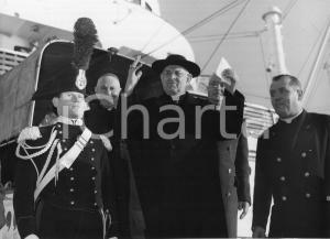 1955 GENOVA SS Giulio Cesare - Arrivo card. Santiago Luis COPELLO - Foto