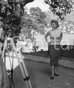 1956 RAPALLO Concorso di bellezza - Una miss in posa - Foto 18x24 cm