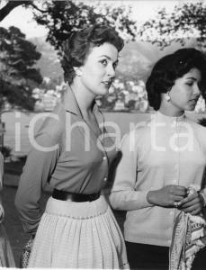 1956 RAPALLO Concorso di bellezza - Raduno di aspiranti miss (2) Foto 18x22 cm
