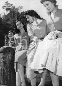 1956 RAPALLO Concorso di bellezza - Raduno di aspiranti miss (3) Foto 18x24 cm