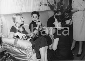 1955 SANREMO Rally del Cinema - Elena GIUSTI a un ricevimento *Foto 24x18 cm