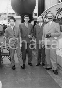 1955 GENOVA Partenza nobili invitati alle nozze di Maria Pia di Savoia *Foto