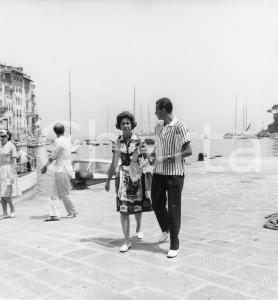 1962 PORTOFINO Juan Carlos di Borbone in vacanza con Sofia di Grecia (4) Foto